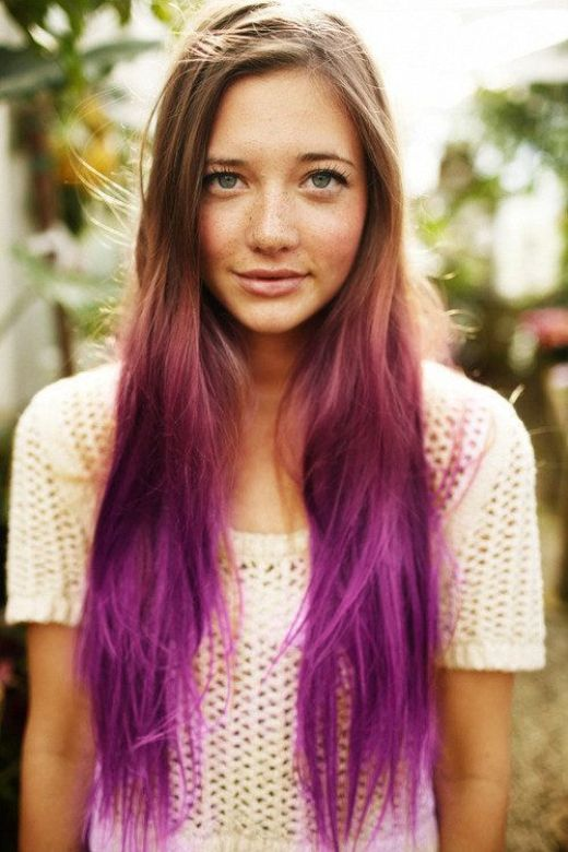 Purple-Ombre-Hair-Color-Idea Hottest Ombre Hair Color Ideas for 2019 – (Short, Medium, Long Hair)