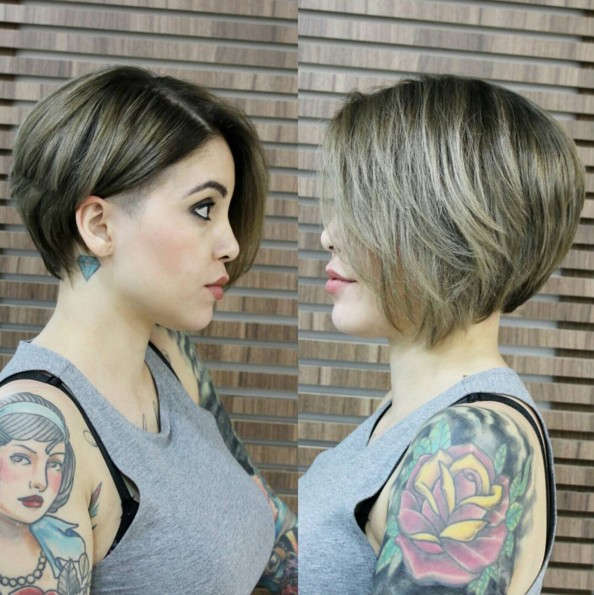 Shaved-Short-Hairstyle Chic Short Hairstyles for Women 2019