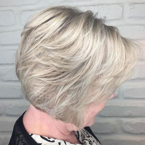 Short-Ash-Blonde-Bob-Haircut Bob Haircuts for Older Women Chic Look