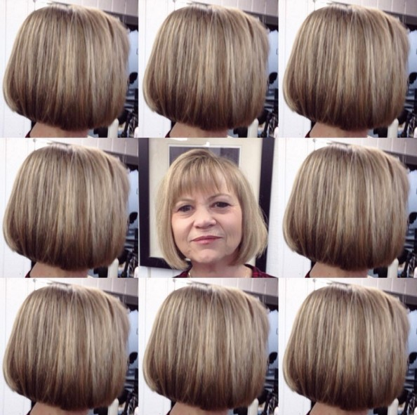 Short-Bob-Hairstyle-for-Women-Over-50 Beautiful Short Hairstyles for Round Faces 2019