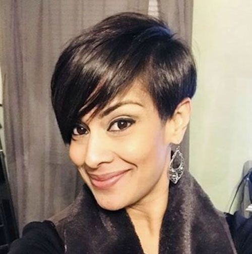Short-Cut-Long-Fringe Best Sassy Pixie Cuts 2019