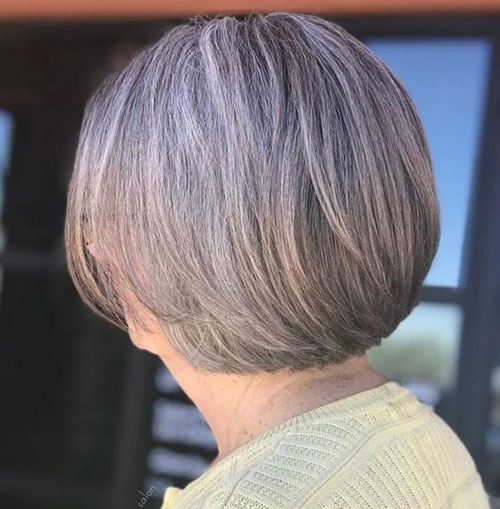 Short-Grandma-Hairstyle Bob Haircuts for Older Women Chic Look