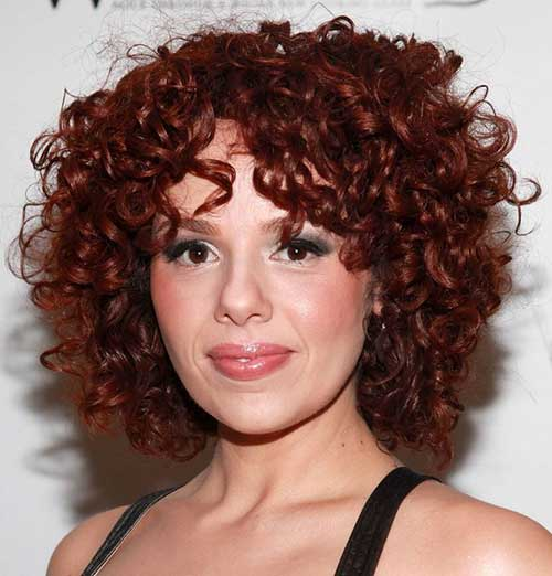 Short-Hairstyle-for-Curly-Frizzy-Red-Hairdo Short Haircuts For Curly Frizzy Hair