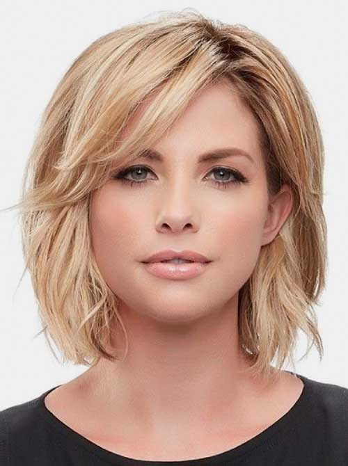 Short-Hairstyles-for-Round-Faces Best Short Hairstyle Ideas 2019