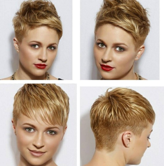 Short-Pixie-Hairstyle-1 Beautiful Short Hairstyles for Round Faces 2019