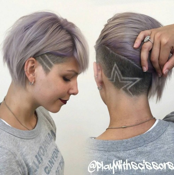 Short-Undercut-Hairstyle-1 Chic Short Hairstyles for Women 2019