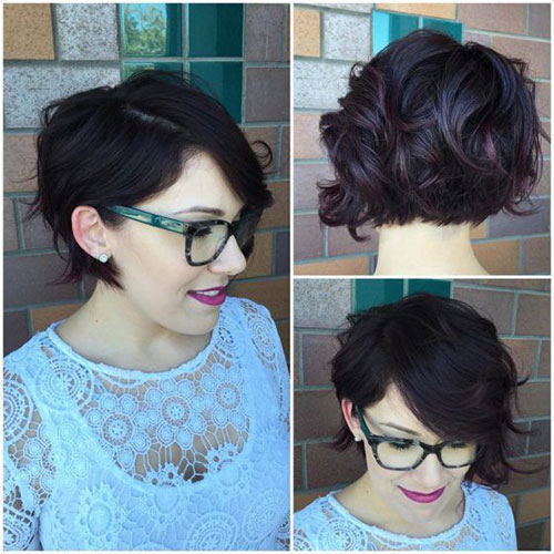 Short-Wavy-Bob Most Pretty Short Wavy Hair with Bangs Ideas