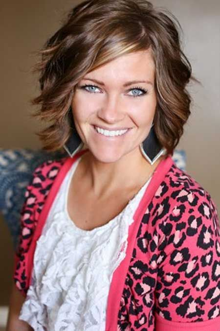 Short-Wavy-Hairstyle-for-Brown-Hair Glamorous Wavy Hairstyles