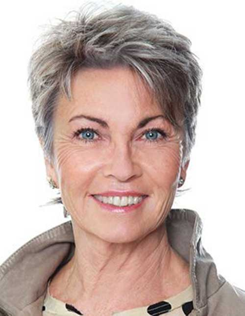 Simple-Short-Haircut-for-Older-Women Very Short Haircuts for Older Women for New Look
