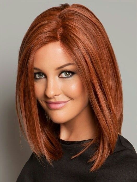 Straight-Bob-Hairstyle-for-Red-Hair Daily Medium Hairstyles for Women 2019