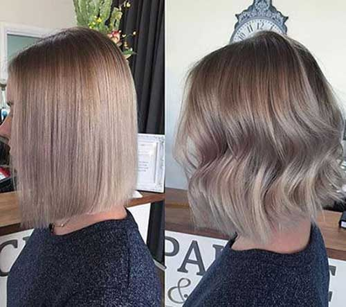 Straight-Or-Wavy Chic Ideas About Short Ash Blonde Hairstyles