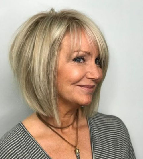 Thin-Hair-Bob-Hairstyle Bob Haircuts for Older Women Chic Look
