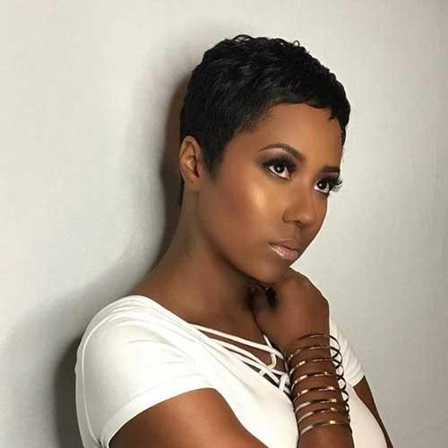 Too-Short-Haircut Latest Short Pixie Cuts for Black Women