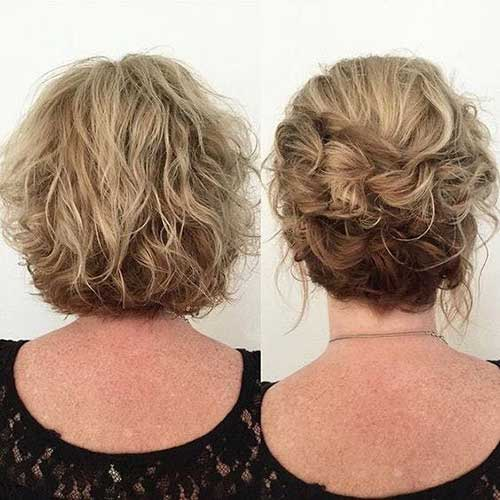 Up-Do-Short-Hair Easy Hairstyles for Short Wavy Hair with Best Ways
