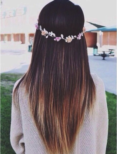 V-Shaped-Long-Layered-Haircut Great Layered Hairstyles for Straight Hair 2019