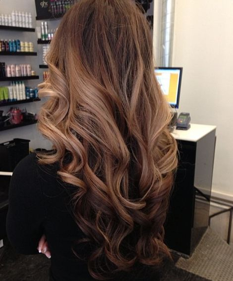 V-cut-Long-Wavy-Hairstyle Alluring Wavy Hairstyles for 2019