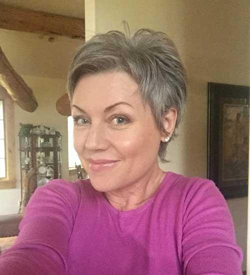 Very-Short-Haircut-for-Older-Women Very Short Haircuts for Older Women for New Look