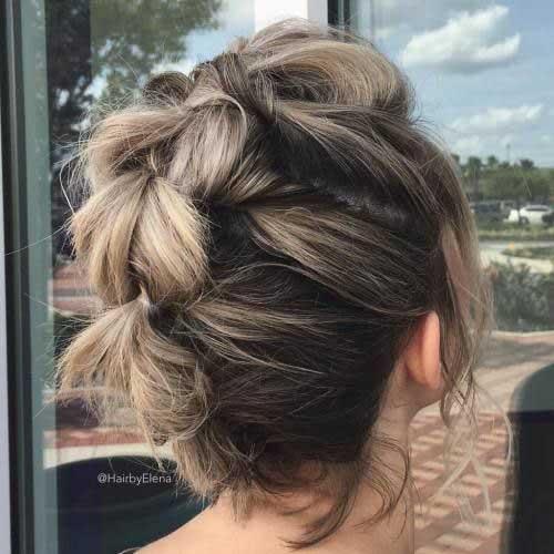 cute-braids-for-short-hair-1 Best Cute Short Haircuts 2019