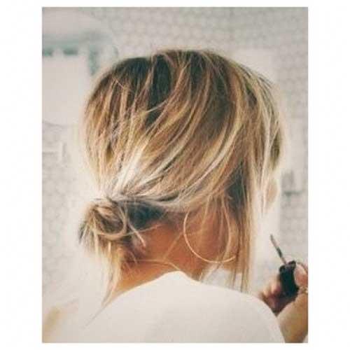 cute-easy-buns-for-short-hair-1 Cute Easy Hairstyle Ideas for Short Hair
