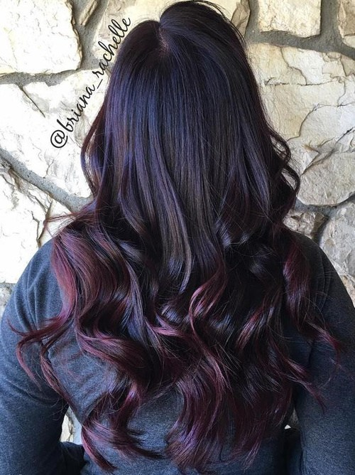 Black-and-Red-Ombre Best Hair Colors for Winter 2019: Hottest Hair Color Ideas