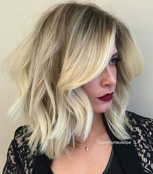 Blonde-Balayage-Bob New Hairstyles and Hair Color Ideas for Fall