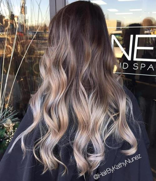 Brown-Blonde-and-Silver-Balayage Gorgeous Ways to Rock Blonde and Sliver Hair