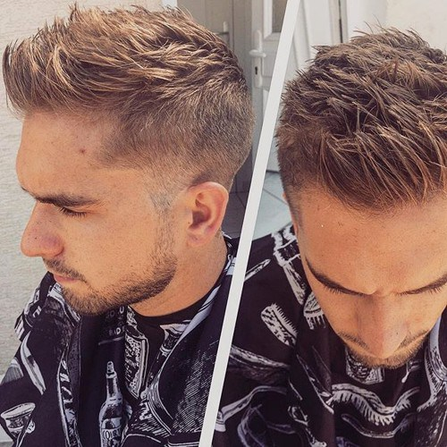 Brown-Short-Hair Hottest Faux Hawk Hairstyles for Men