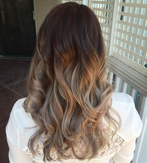 Brown-and-Silver-Balayage Gorgeous Ways to Rock Blonde and Sliver Hair