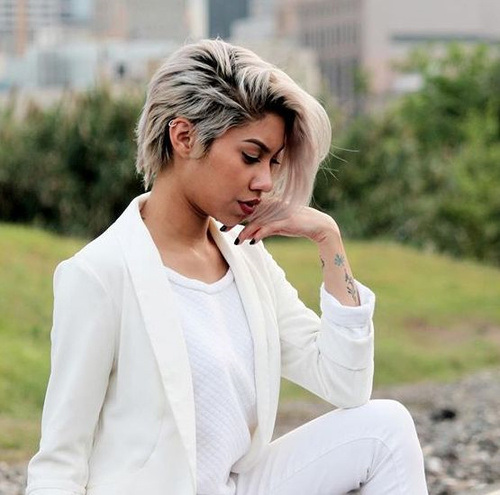 Choppy-Crop Gorgeous Ways to Rock Blonde and Sliver Hair