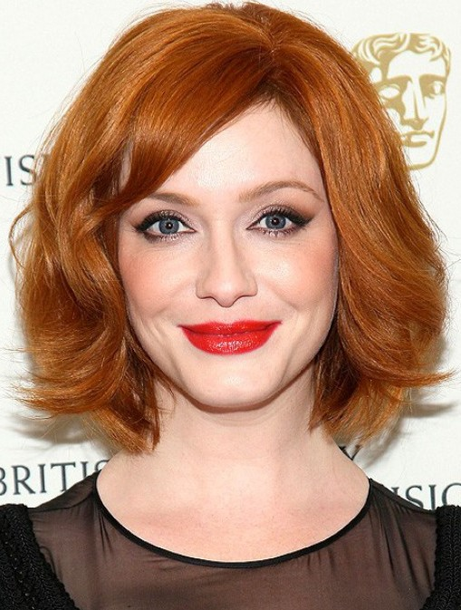 Christina-Hendricks-Short-Red-Bob-Haircut Chic Short Cuts You Should Not Miss - Short Hair Trends for 2019