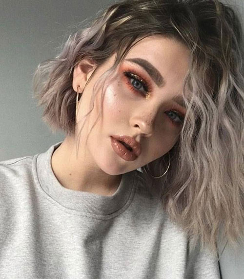 Cool-Hair-Color Latest Alternatives About Hairstyles for Short Wavy Hair 2019