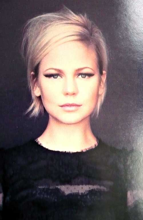 Cute-Girl-with-Side-Swept-Bob-Hairstyle Best Cute Girl Short Haircuts To Help You Out