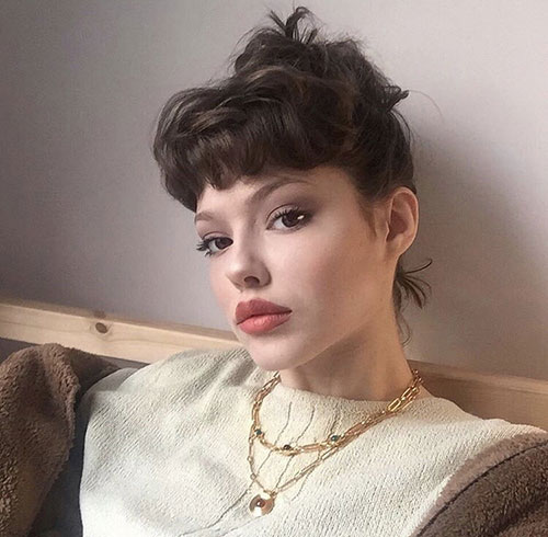 Cute-Updo Latest Alternatives About Hairstyles for Short Wavy Hair 2019