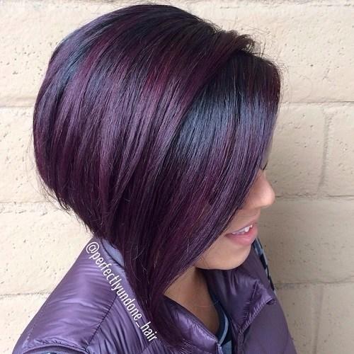 Dark-Red-and-Black Trendy Mahogany Hair Color Ideas
