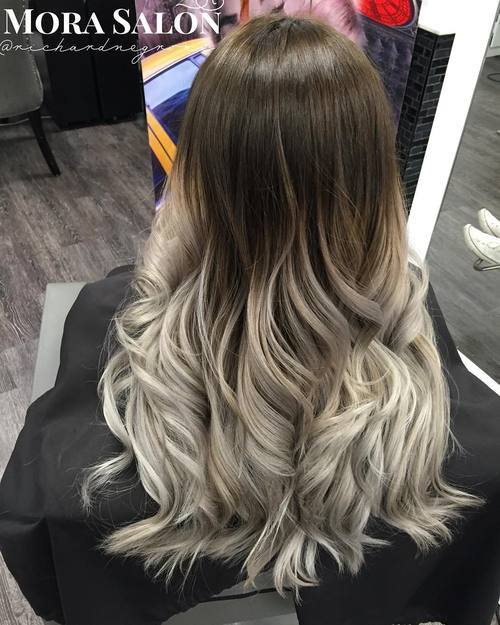 Deep-Brown-and-Vibrant-Silver Gorgeous Ways to Rock Blonde and Sliver Hair
