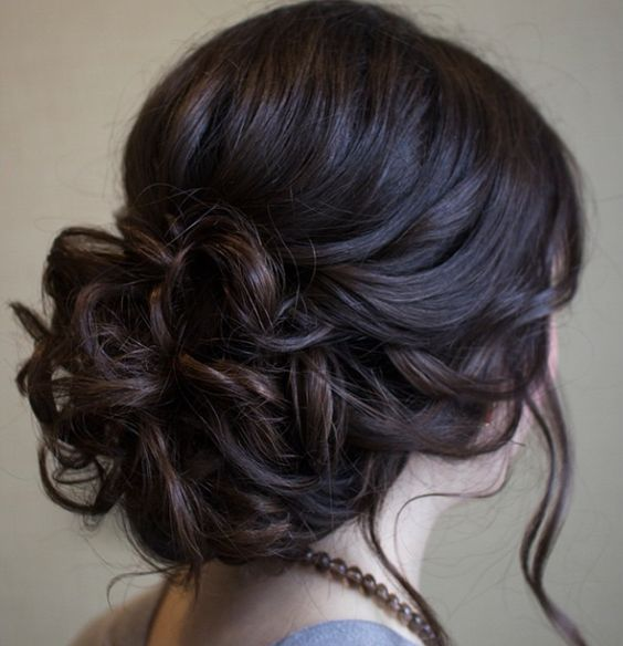 Elegant-long-black-updo-with-low-lights-for-wedding Stunning Hairstyles for Black Hair 2019