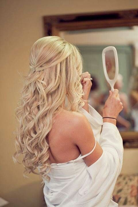 Gorgeous-Long-Curly-Wedding-Hairstyle Perfect Curly Wedding Hairstyles