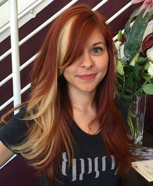 Highlighted-Red-Hair Awsome Highlighted Hairstyles for Women – Hair Color Ideas