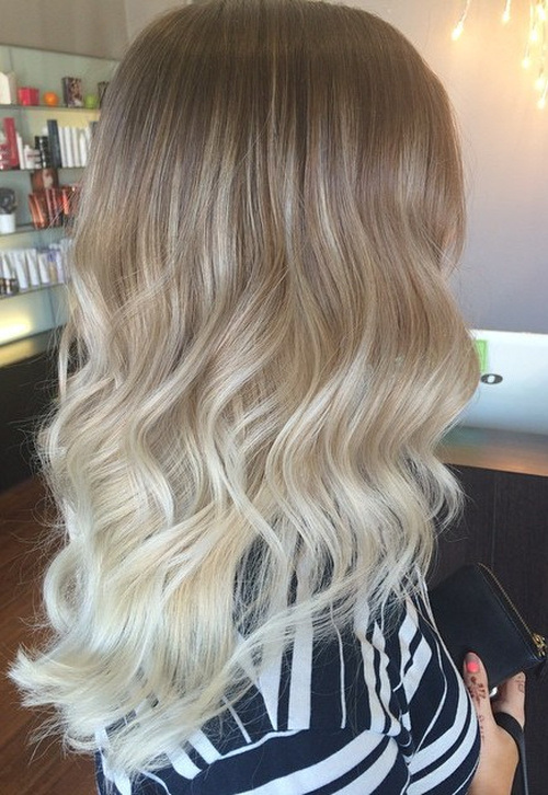 Honey-Blonde-with-Silver-Ends Gorgeous Ways to Rock Blonde and Sliver Hair