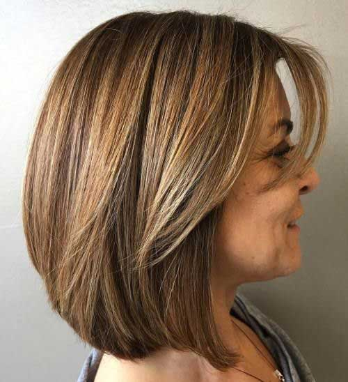 Layered-Bob-Hairstyle Short Hairstyles for Women Over 40 to Explore New Look