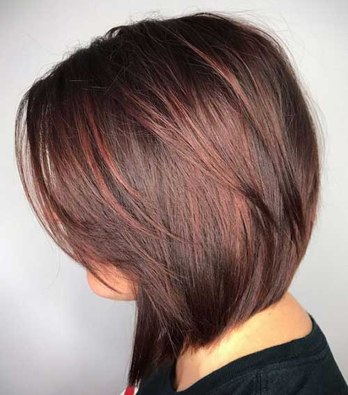 Layered-Medium-Length-Bob Short Hairstyles for Women Over 40 to Explore New Look