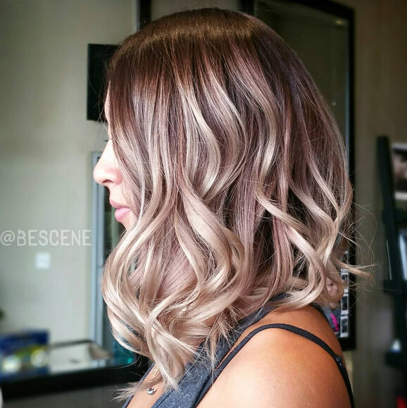 Long-Wavy-Bob-Hairstyle-with-Highlights Trendiest Bob Haircuts for Women