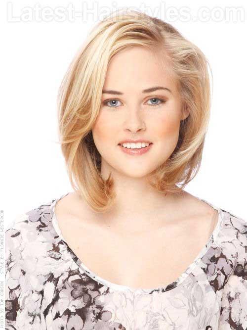 Medium-Angled-Fine-Blonde-Bob New Bob Haircuts for Fine Hair