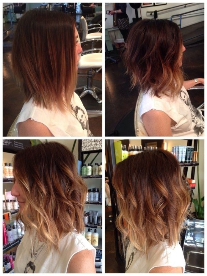 Medium-Layered-Hairstyle-for-Ombre-Hair Great Hairstyles for Medium Length Hair 2019