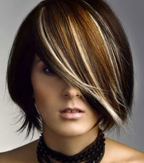 Multi-tone-dark-hair-color Best Short Hair Color Trends 2019