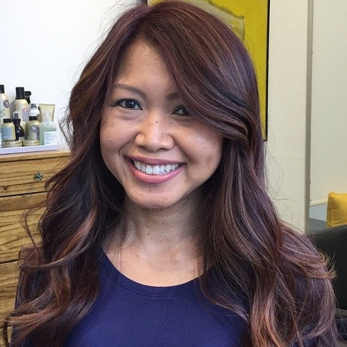 Natural-Beauty Trendy Mahogany Hair Color Ideas