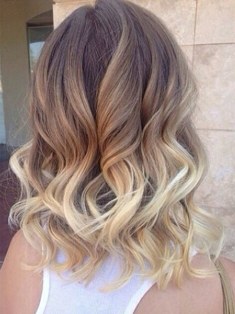 Ombre-Curly-Wavy-Hairstyle Great Hairstyles for Medium Length Hair 2019