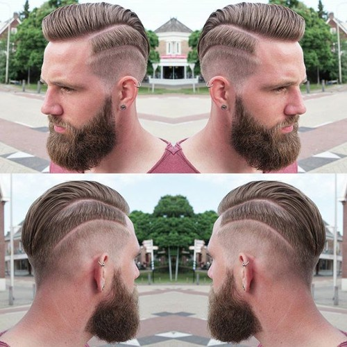 Parted-Faux-Hawk Hottest Faux Hawk Hairstyles for Men