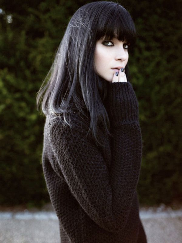 Pretty-Hairstyles-for-Black-Hair-Textured-Hair-with-Blunt-Bangs Stunning Hairstyles for Black Hair 2019