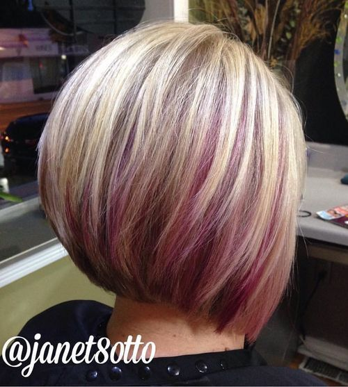 Purple-Highlighted-Hair Awsome Highlighted Hairstyles for Women – Hair Color Ideas
